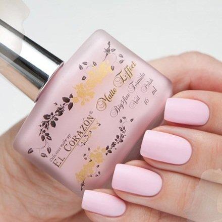 El Corazon Matte Effect, № 111Лаки El Corazon<br>Лак розовый,плотный, матовый.Объем 16 ml.<br>