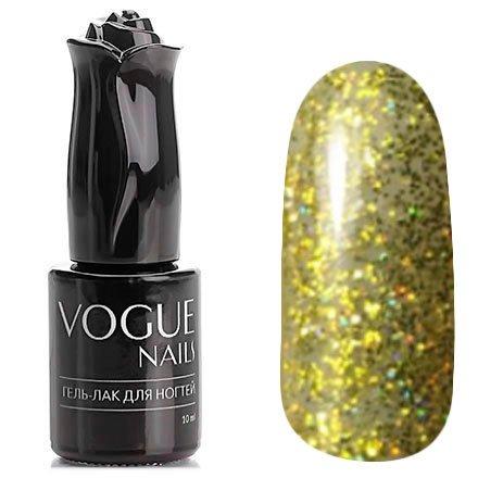 Vogue Nails, Гель-лак - Жар-птица №754 (10 мл.)Vogue Nails<br>Гель-лак, полупрозрачный золотой с большим количеством голографических блесток<br>