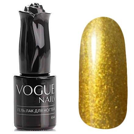 Vogue Nails, Гель-лак - Золотистый нарцисс №757 (10 мл.)Vogue Nails<br>Гель-лак, золотой с шиммером, плотный<br>