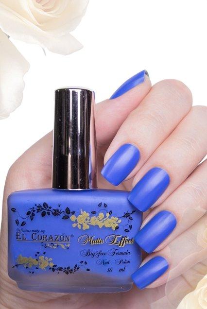 El Corazon Matte Effect, № 146Лаки El Corazon<br>Лак синий, неоновый, плотный, матовый.Объем 16 ml.<br>