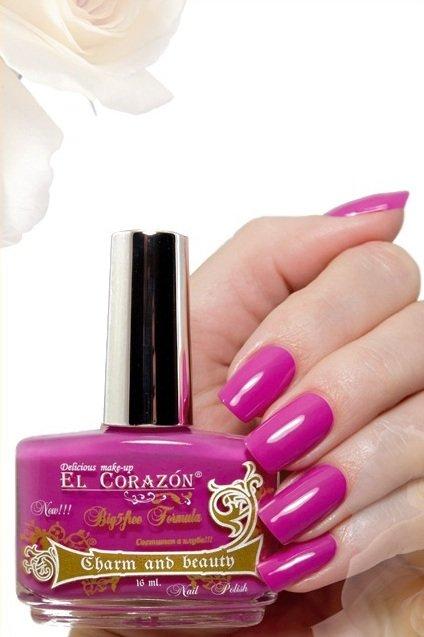 El Corazon Charm and beauty, № 857Лаки El Corazon<br>Лак ярко-розовыйбез блесток и перламутра, плотный.Объем 16 ml.<br>