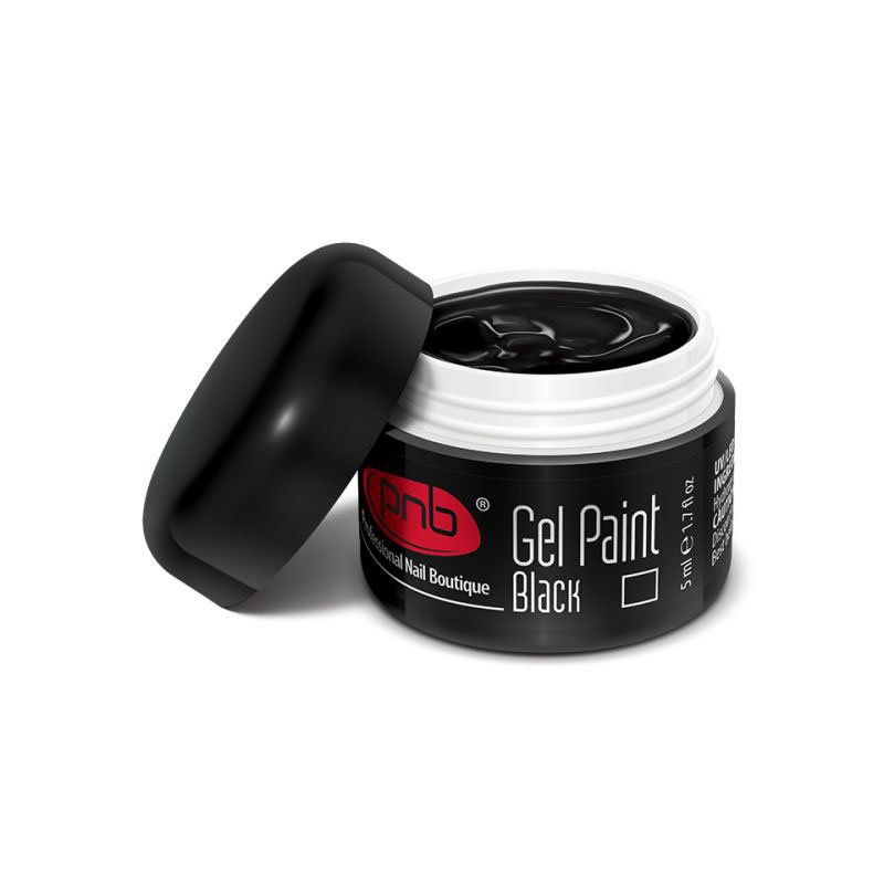 PNB, Гель-краска 02 - Gel Paint Black (5 мл.)Гель краски PNB<br>Гель краска для рисования черная.<br>