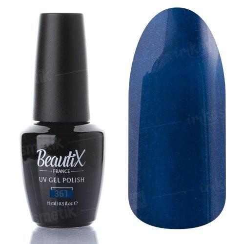 Beautix, Гель-лак №361 (15 мл.)Beautix<br>Гель-лак,темно-синий,глянцевый, с микроблеском, плотный<br>