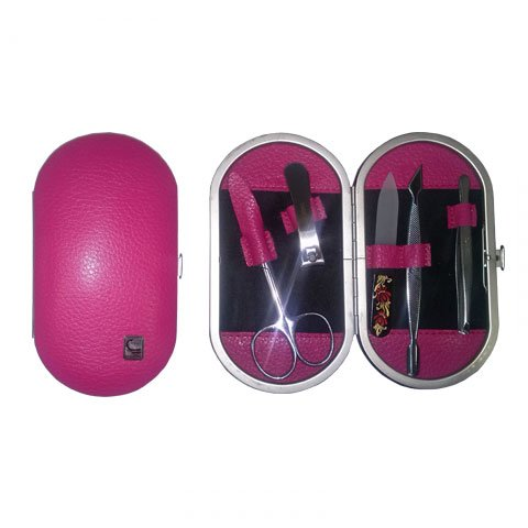 Staleks, Маникюрный набор Рамка овал НМ-04/3 (Розовый матовый)Инструменты для педикюра<br>В наборе«Рамка овал» НМ-04/3 5 предметов.<br>