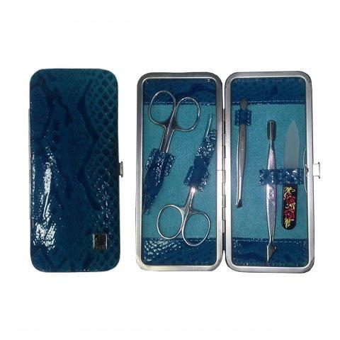Staleks, Маникюрный набор - Рамка узкая НМ-04-2Р (Змея синяя)Маникюрные наборы<br>В маникюрном наборе «Рамка узкая» НМ-04/2Р 5 предметов<br>