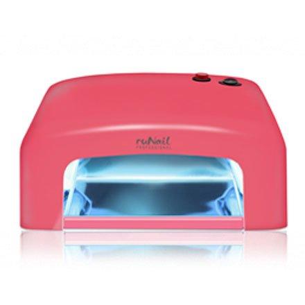 ruNail, Прибор ультрафиолетового излучения GL-515 (красный, 36Вт.)Оборудование <br>УФ-лампа со встроенным таймером.<br>