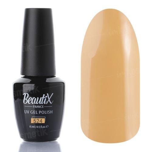 Beautix, Гель-лак №524 (15 мл.)Beautix<br>Гель-лак, светло-горчичный,глянцевый, без блесток и перламутра, плотный<br>