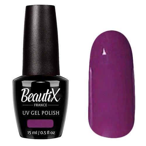 Beautix, Гель-лак №621 (15 мл.)Beautix<br>Гель-лак, темно-лиловый,глянцевый, без блесток и перламутра, плотный<br>
