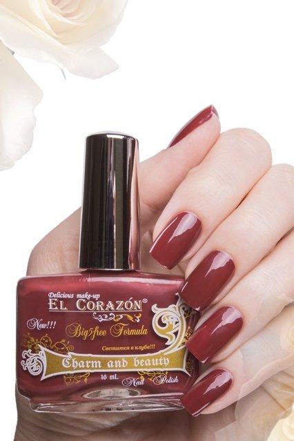 El Corazon Charm and beauty, № 876Лаки El Corazon<br>Лак кирпично-красный,плотный, без блесток и перламутра.Объем 16 ml.<br>
