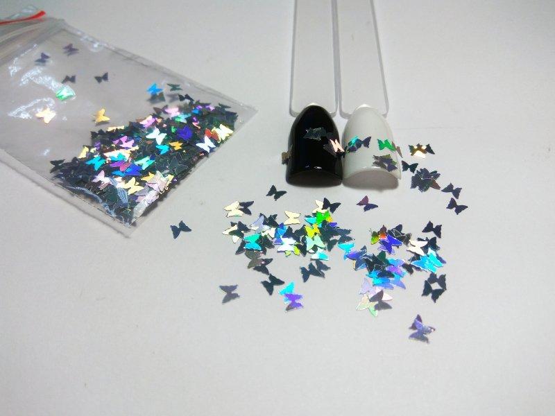NelTes, Бабочки серебряныеКамифубуки для дизайна ногтей<br>Камифубуки для дизайна ногтей<br>
