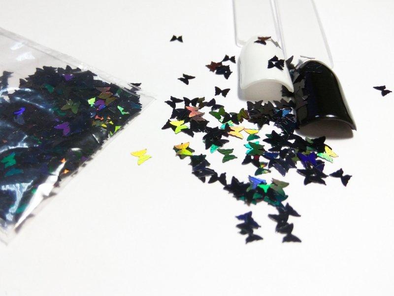 NelTes, Бабочки черныеКамифубуки для дизайна ногтей<br>Камифубуки для дизайна ногтей<br>