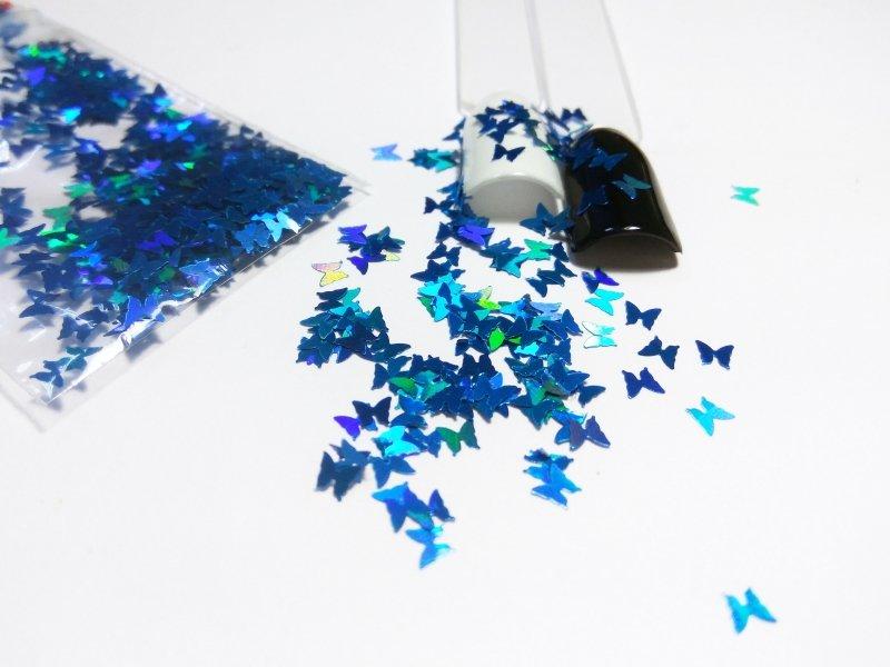 NelTes, Бабочки голубыеКамифубуки для дизайна ногтей<br>Камифубуки для дизайна ногтей<br>