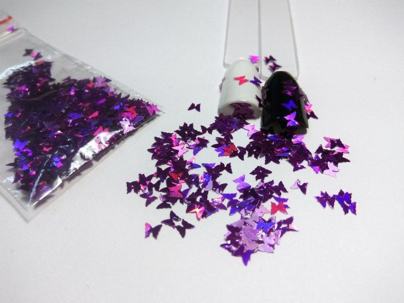 NelTes, Бабочки фиолетовыеКамифубуки для дизайна ногтей<br>Камифубуки для дизайна ногтей<br>