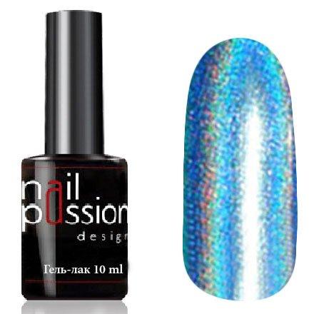 Nail Passion, Гель-лак - Небесная иллюзия 4104 (10 мл.)Nail Passion<br>Гель-лак, небесно-голубой голографический, плотный<br>