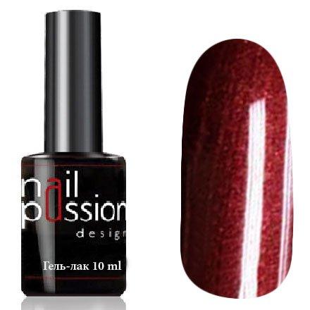 Nail Passion, Гель-лак - Агра 5103 (10 мл.)Nail Passion<br>Гель-лак,темно-красная бронза, с перламутром, плотный<br>