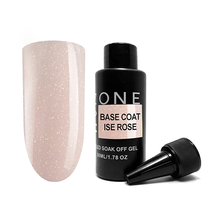 OneNail, Base Coat Ice Rose - Камуфлирующая база для гель-лака с шиммером (50ml.)