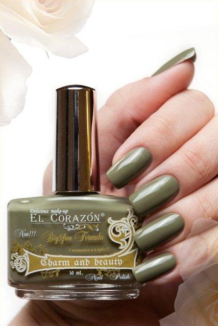 El Corazon Charm and beauty, № 891Лаки El Corazon<br>Лак темно-оливковый, без блесток и перламутра, плотный. Объем 16 ml.<br>