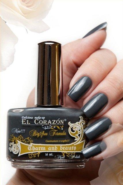 El Corazon Charm and beauty, № 894Лаки El Corazon<br>Лакбежево-серый, без блесток и перламутра, плотный.Объем 16 ml.<br>