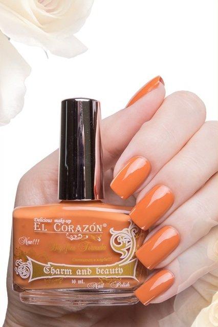 El Corazon Charm and beauty, № 899Лаки El Corazon<br>Лак шафраново-оранжевый,без блесток и перламутра, плотный.Объем 16 ml.<br>