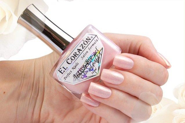 El Corazon Active Bio-gel Shimmer, № 423-2Лечебный биогель El Corazon<br>Био-гельхолодно-розовый с мелкими золотыми блестками, полупрозрачный.Объем 16 ml.<br>