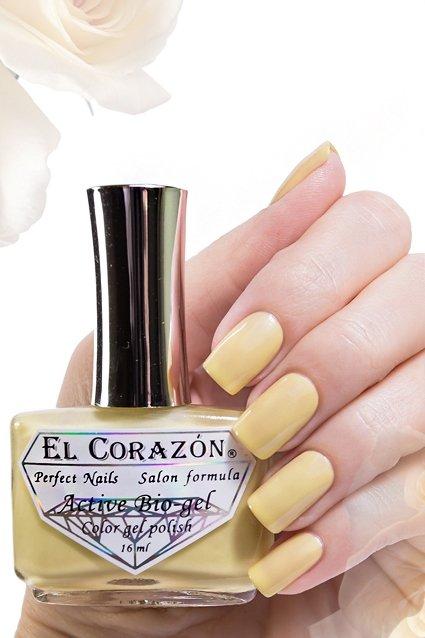 El Corazon Active Bio-gel Jelly, № 423/45Лечебный биогель El Corazon<br>Био-гель жёлтый пастельный, без блесток и перламутра, плотный. Объем 16 ml.<br>