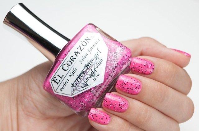 El Corazon Active Bio-gel Fenechka, № 423-124Лечебный биогель El Corazon<br>Био-гель кислотно-розовый с черными и белыми блестками, с добавлением черных микрочастиц, неоновый, плотный. Объем 16 ml.<br>