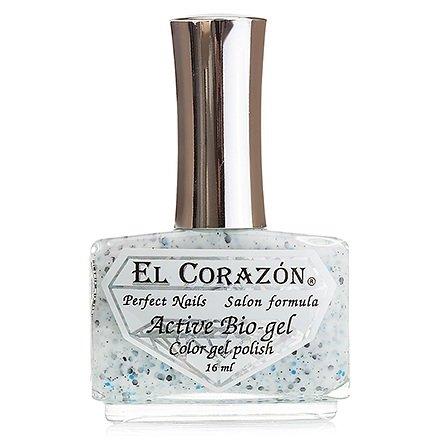 El Corazon Active Bio-gel Hocus-pocus, № 423-155Лечебный биогель El Corazon<br>Био-гель молочно-белый, с разноразмерными черными и голубыми блестками, с черными звездочками, полупрозрачный. Объем: 16 ml.<br>