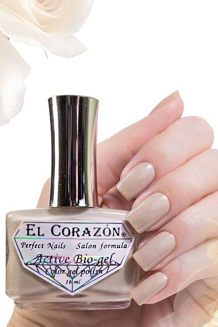 El Corazon Active Bio-gel Jelly, № 423/41Лечебный биогель El Corazon<br>Био-гель нежного пастельно-коричневого оттенка,без блесток и перламутра, плотный. Объем 16 ml.<br>