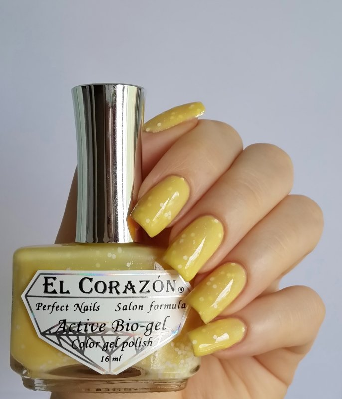 El Corazon Active Bio-gel, Fashion girl at the wheel № 423/202Лечебный биогель El Corazon<br>Био-гель дымчато-желтый, с белыми блестками,плотный. Объем 16 ml.<br>