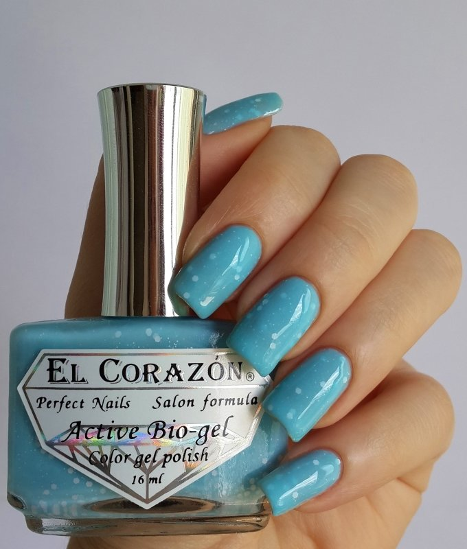 El Corazon Active Bio-gel, Fashion girl on a beach №423/204Лечебный биогель El Corazon<br>Био-гель нежно-голубой, с белыми блестками,плотный. Объем 16 ml.<br>