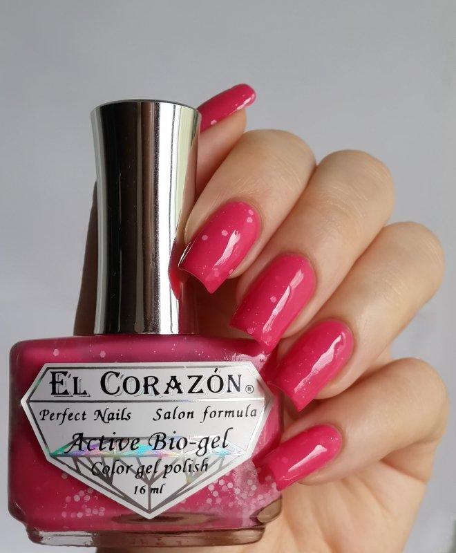El Corazon Active Bio-gel, Fashion girl on a tryst №423/210Лечебный биогель El Corazon<br>Био-гель малино-розовый, с белыми блестками,плотный. Объем 16 ml.<br>