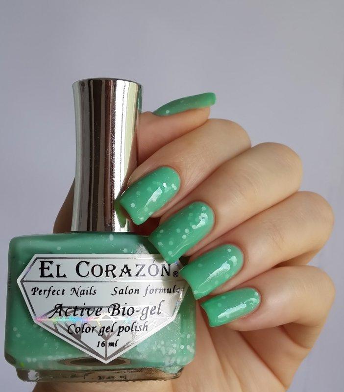 El Corazon Active Bio-gel, Fashion girl mammy №423-212Лечебный биогель El Corazon<br>Био-гель светло-бирюзовый, с белыми блестками,плотный. Объем 16 ml.<br>