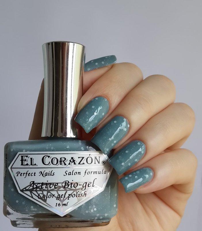 El Corazon Active Bio-gel, Fashion girl in the Paris №423/213Лечебный биогель El Corazon<br>Био-гель ярко-серый, с белыми блестками,плотный. Объем 16 ml.<br>