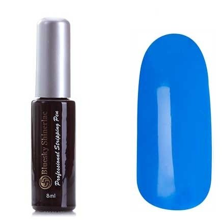 BlueSky Shinerlac, Синий №06, 8 мл (гель-лак для рисования)Bluesky Shinerlac<br>BlueSky Shinerlac 8 мл (гель-лак для рисования) Синий<br>