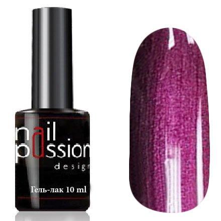 Nail Passion, Гель-лак - Букингем 5104 (10 мл.)Nail Passion<br>Гель-лак, бордово-фиолетовый, с перламутром, плотный<br>