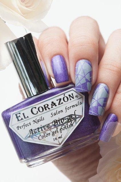 El Corazon Active Bio-gel Prisma new, № 423/28Лечебный биогель El Corazon<br>Био-гель яркого сиренево-серебряного цвета, состоит из голографических микроблесток, плотный. Объем 16 ml.<br>
