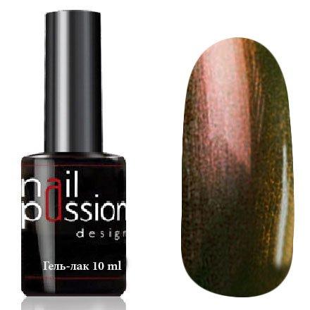 Nail Passion, Гель-лак - Офир 6008 (10 мл.)Nail Passion<br>Гель-лак, дуохром зелено-оранжевый, с перламутром, плотный<br>