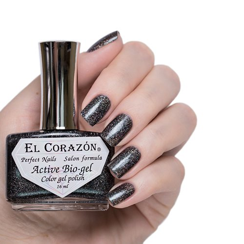El Corazon Active Bio-gel Gemstones, Black pearl № 423-456Лечебный биогель El Corazon<br>Био-гельчёрногоцвета с изумрудным отливом, со слюдой, плотный. Объем 16 m.<br>