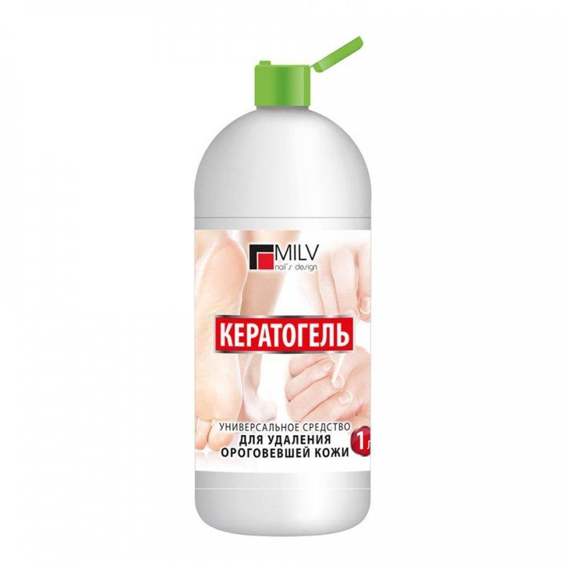 MILV, Кератогель Универсальное средство для удаления ороговевшей кожи (1000 мл.)Средства для педикюра<br>Размягчает и растворяет ороговевший слой кожи.<br>