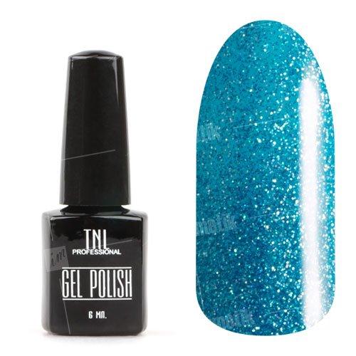 TNL, Гель-лак Карнавал - Колумбия №009 (6 мл.)TNL Professional <br>Гель-лак, светлый синий, с мерцающими блестками, плотный<br>