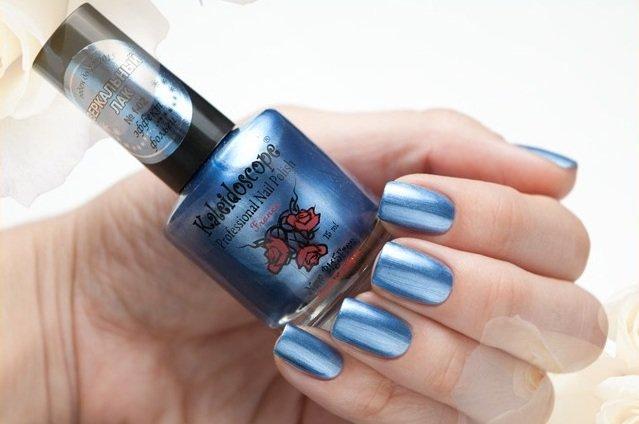 El Corazon, Kaleidoscope Зеркальный № F-02Лаки для стемпинга El Corazon<br>Лак для ногтей ярко-синий, серебряный, перламутровый, плотный. Объем 15 мл.<br>