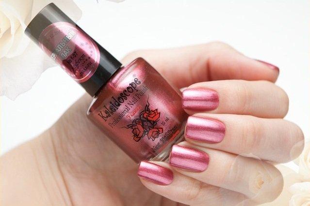 El Corazon, Kaleidoscope Зеркальный № F-07Лаки для стемпинга El Corazon<br>Лак для ногтей розово-красный, перламутровый, плотный. Объем 15 мл.<br>
