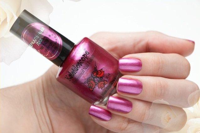El Corazon, Kaleidoscope Зеркальный № F-09Лаки для стемпинга El Corazon<br>Лак для ногтей насыщенный малиновый, перламутровый, плотный. Объем 15 мл.<br>