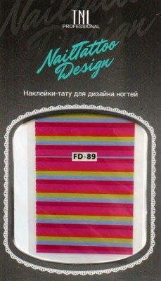TNL, Наклейка-тату для дизайна FD-89Наклейка-тату для дизайна TNL<br>Наклейка-тату для дизайна<br>
