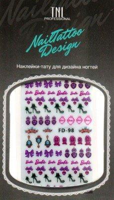 TNL, Наклейка-тату для дизайна FD-98Наклейка-тату для дизайна TNL<br>Наклейка-тату для дизайна<br>