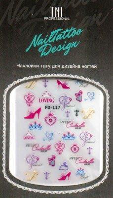 TNL, Наклейка-тату для дизайна FD-117Наклейка-тату для дизайна TNL<br>Наклейка-тату для дизайна<br>