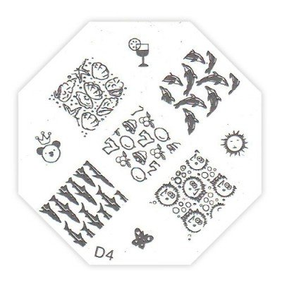 TNL, Трафарет металлический для стемпинга D4Диски для стемпинга TNL<br>Трафарет металлический для стемпинга<br>