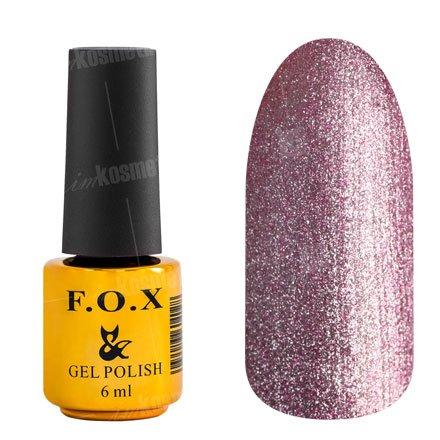 F.O.X, Гель-лак - Platinum 002 (6 ml.)F.O.X<br>Гель-лак стальной розовый, с микроблеском, плотный<br>