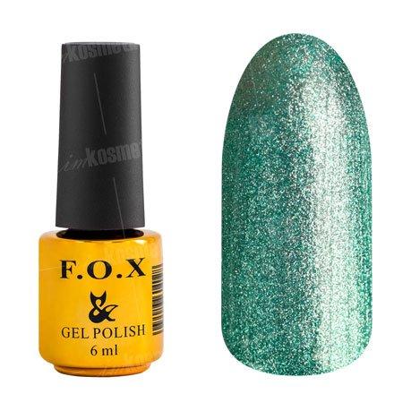 F.O.X, Гель-лак - Platinum 004 (6 ml.)F.O.X<br>Гель-лак стальной светло-зеленый, с микроблеском, плотный<br>