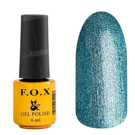 F.O.X, Гель-лак - Platinum 005 (6 ml.)F.O.X<br>Гель-лак стальной голубой, с микроблеском, плотный<br>